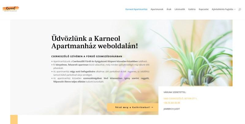 Karneol Apartmanház - referencia